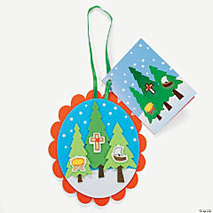 Legend of the 3 Trees Christmas Ornament with Poem Craft Kit