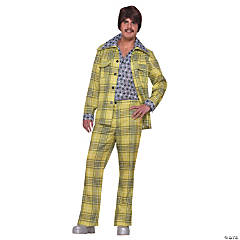 Leisure Suit 70s Plaid Adult Men's Costume