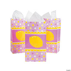 Lemonade Party Paper Treat Bags