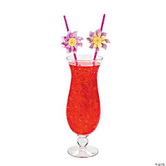Lemonade Party Pinwheel Plastic Straws