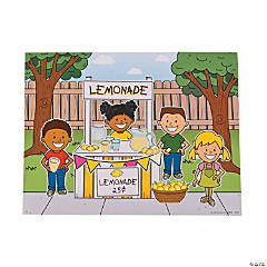 Lemonade Stand Sticker Scenes
