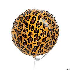 Leopard Print Mylar Balloons