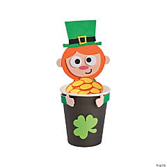 Leprechaun Pot of Gold Treat Cup Hugger Craft Kit