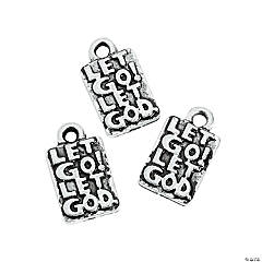 Let Go Let God Mini Charms