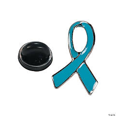 Light Blue Awareness Ribbon Pins