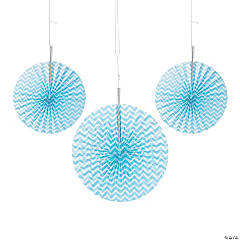 Light Blue Chevron Hanging Fans
