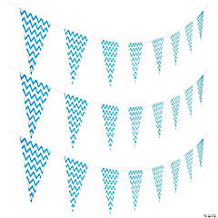 Light Blue Chevron Pennant Banner