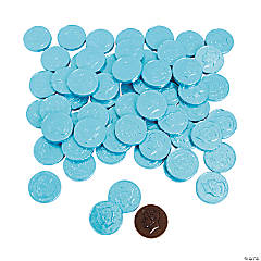 Light Blue Chocolate Coins