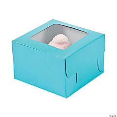 Light Blue Cupcake Boxes