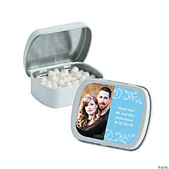 Light Blue Custom Photo Mint Tins