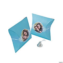 Light Blue Custom Photo Pillow Boxes