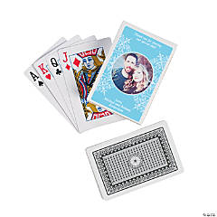 Light Blue Custom Photo Playing Cards