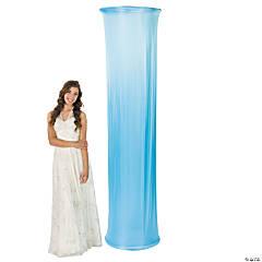 Light Blue Fabric Column Slip