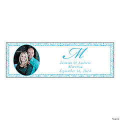 Light Blue Flourish Medium Custom Photo Banner