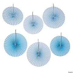 Light Blue Gingham Hanging Fans