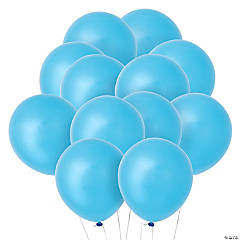Light Blue Latex Balloons