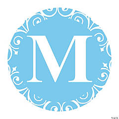 Light Blue Personalized Monogram Favor Stickers