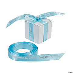 Light Blue Personalized Ribbon - 5/8