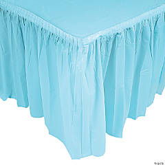 Light Blue Pleated Table Skirt