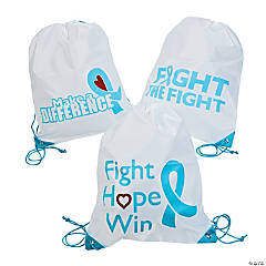Light Blue Ribbon Awareness Backpack