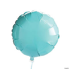 Light Blue Round Mylar Balloon Set