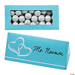 Light Blue Wedding Place Card Favor Boxes