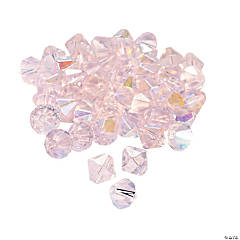 Light Pink Aurora Borealis Crystal Bicone Beads - 8mm