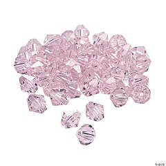 Light Pink Crystal Bicone Beads - 8mm