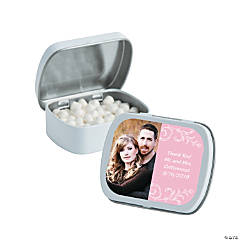 Light Pink Custom Photo Mint Tins
