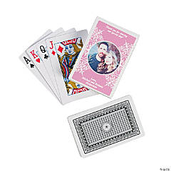 Light Pink Custom Photo Playing Cards