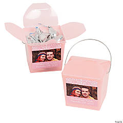 Light Pink Custom Photo Take Out Boxes