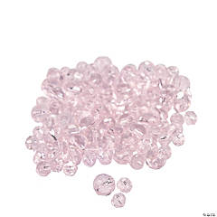 Light Pink Cut Crystal Round Beads - 4mm-6mm
