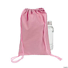 Light Pink Drawstring Backpacks