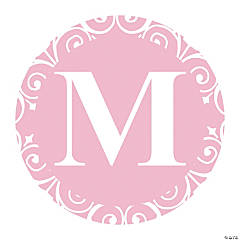 Light Pink Personalized Monogram Favor Stickers