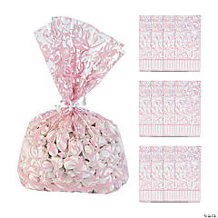 Light Pink Swirl Cellophane Bags