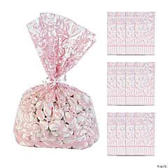 Light Pink Swirl Cellophane Bags