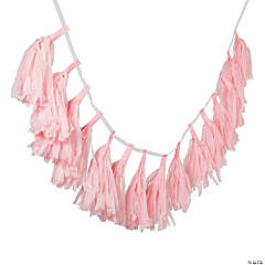 Light Pink Tassel Garland