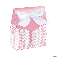 Light Pink Tent Favor Boxes with Bow