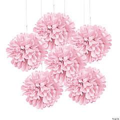 Light Pink Tissue Pom-Pom Decorations