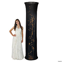 Light-Up Black Fabric Column