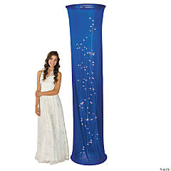 Light-Up Blue Fabric Column Party Light