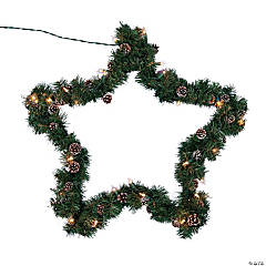 Light-Up Evergreen Star Decoration