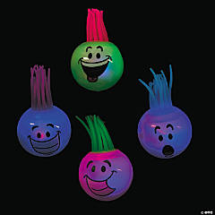 Light-Up Funny Face Bouncy Ball Assortment