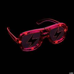 Light-Up LED Lightning Bolt Shading Glasses