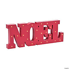 Light-Up Noel Tabletop Décor