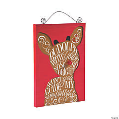 Light-Up Rudolph the Red-Nosed Reindeer<sup>&#174;</sup> Wall Hanging