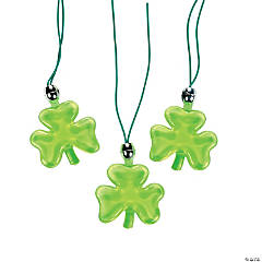 Light-Up Shamrock Necklaces