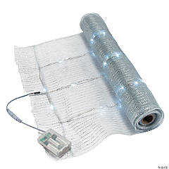 Light-Up Silver Mesh Metallic Roll