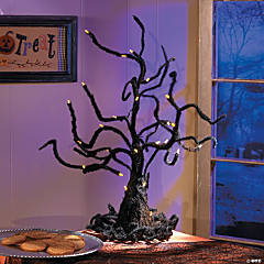 Light-Up Wire Ghost Tree Halloween Décor