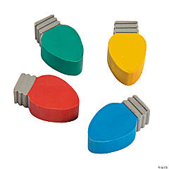 Lightbulb Erasers